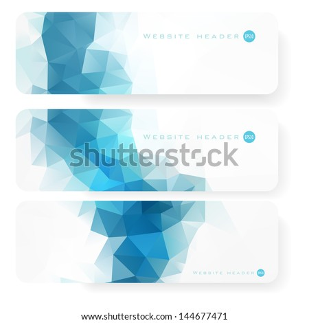 Website header or banner set - stock vector