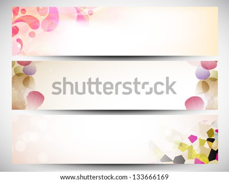 Website header or banner set. EPS 10. - stock vector