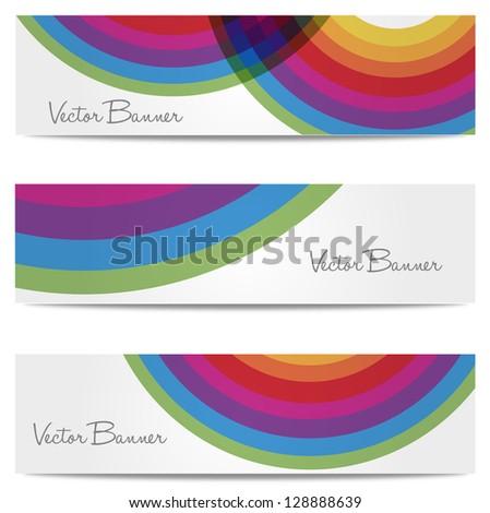 Website header or banner set, vector - stock vector