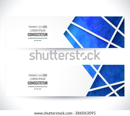 Website header or banner set. Vector illustration for your business presentations. EPS10. - stock vector