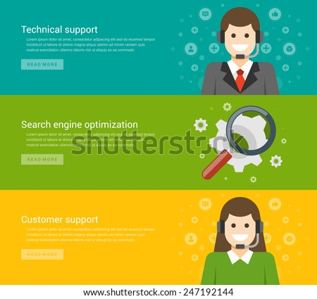 Website Headers Promotion Banners Templates Flat Stock Vector ...