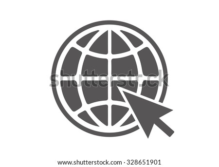 Website Icon - stock vector