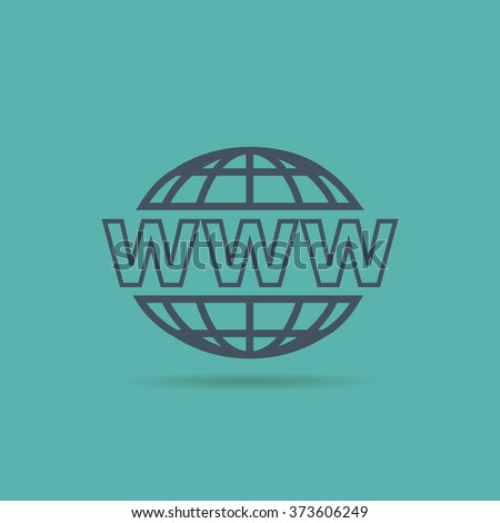 Website Icon. www sign - stock vector