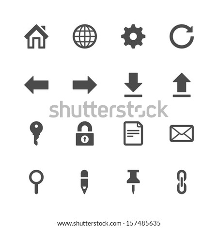 Website icons - stock vector