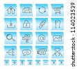 Website icons and buttons, vector illustration - stock vector