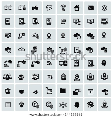 Website icons,Networking icons,vector - stock vector