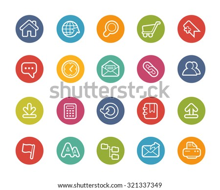 Website Icons // Printemps Series - stock vector