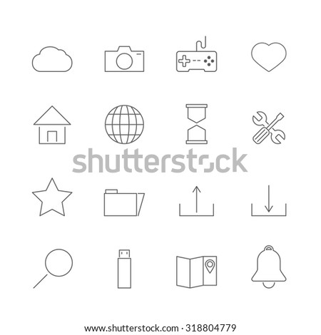 website icons set - stock vector