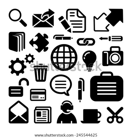 Website icons set great for any use. Vector EPS10. - stock vector