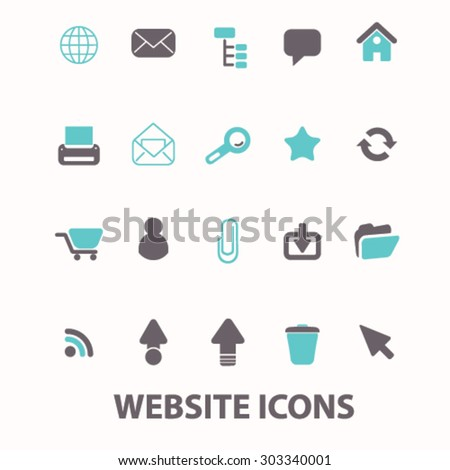 website icons set, vector - stock vector