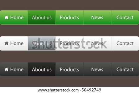 website menu - stock vector