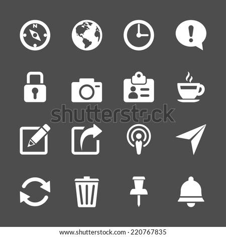 website menu icon set, vector eps10. - stock vector