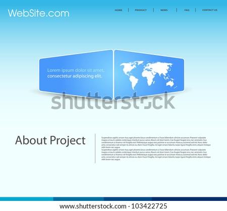 website modern template - stock vector
