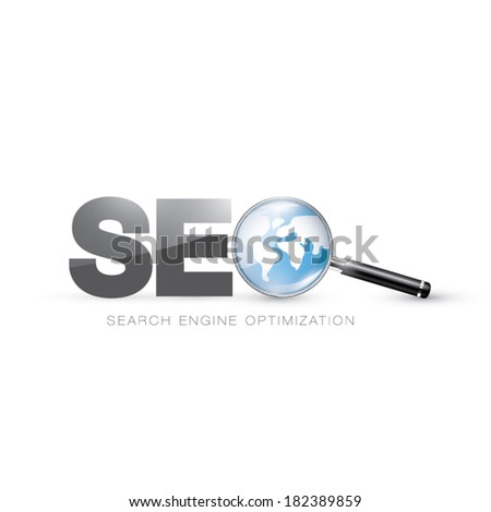 Website search engine optimization visual expression concept vector illustration - stock vector