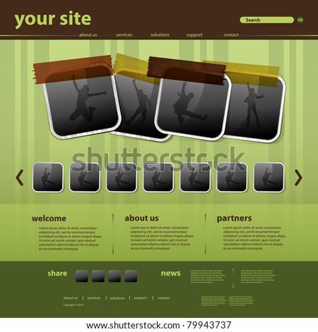 Website Template - stock vector
