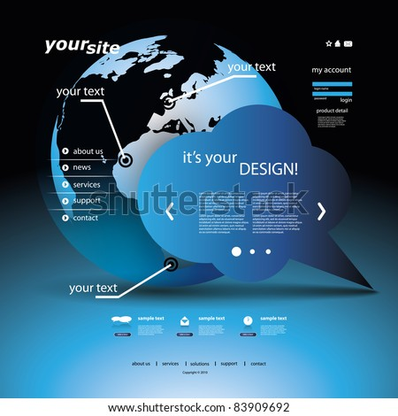 Website Template - stock vector