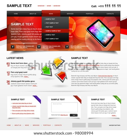 Website Template 4. Color variant 2