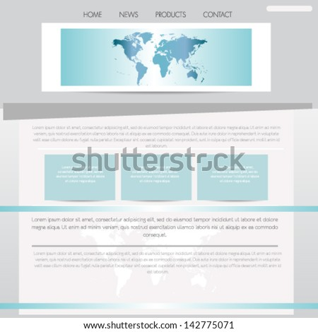 Website template design - stock vector