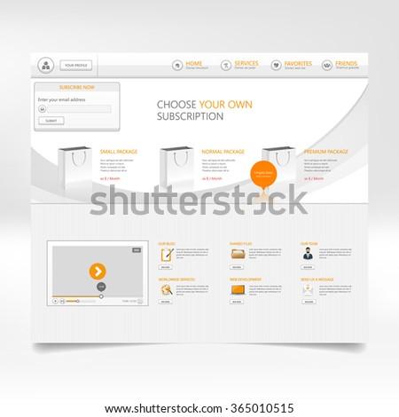 Website template design  - stock vector
