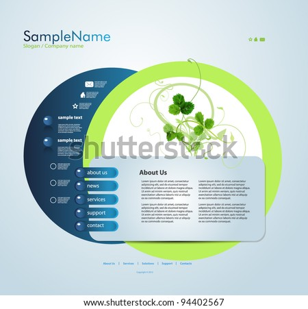 Website template, editable vector EPS 10 - stock vector