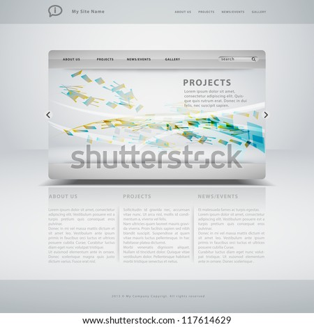 Website template in editable vector format - stock vector