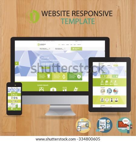 Website Template Responsive - stock vector