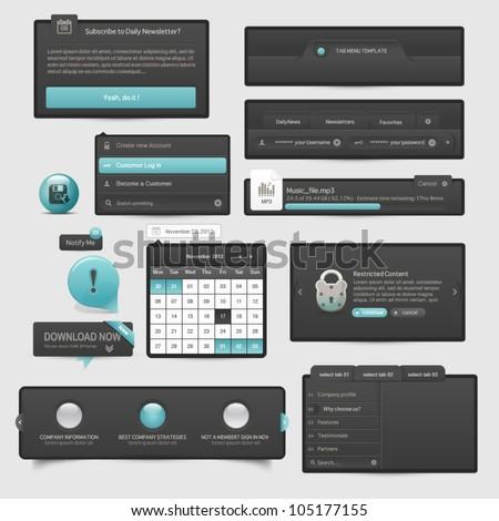 Website template UI elements - stock vector