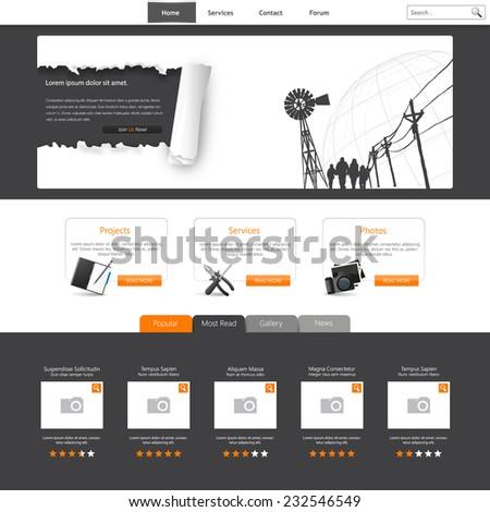 Website Template Vector Illustration. Eps 10  - stock vector
