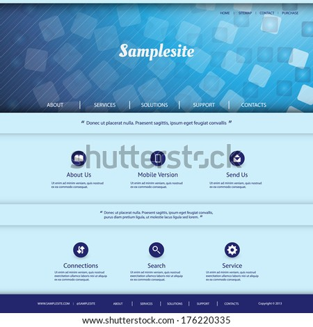 Website Template with Checkered Header Design