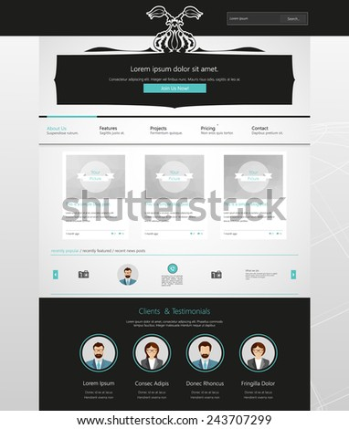 Website Template with ornaments.