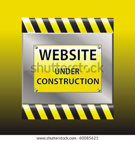 website under construction vector sigh - stock vector