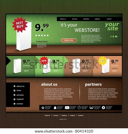 Online Store Template Web Stock Photos, Royalty-Free Images ...