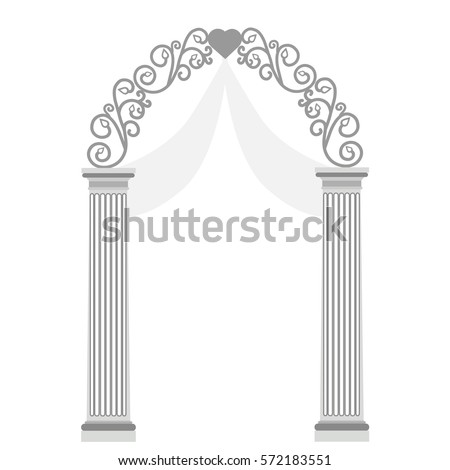 Wedding arch ornaments isolated on white stock vector 572183551 wedding arch with ornaments isolated on white background wedding decoration vector illustration junglespirit Gallery