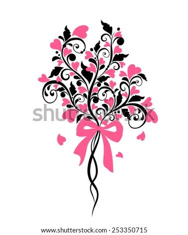 Wedding bouquet - stock vector