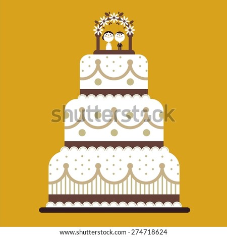 wedding cake icon vector wedding cake stock vector 274718624 22892