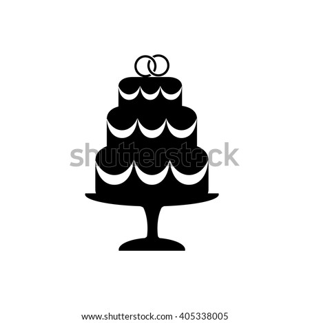 wedding cake icon vector tatianakost69 s portfolio on 22892