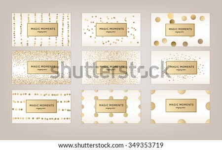 Wedding card hand drawn vector card collection, card template for invitation, greeting, party, wedding, save date, Christmas. Logo collection and identity elements. Love, thank you - stock vector