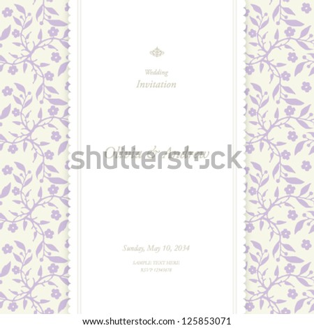 Wedding card, invitation card