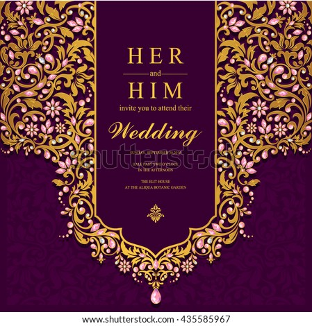 Wedding Card Invitation Card Card Abstract Stock Vector