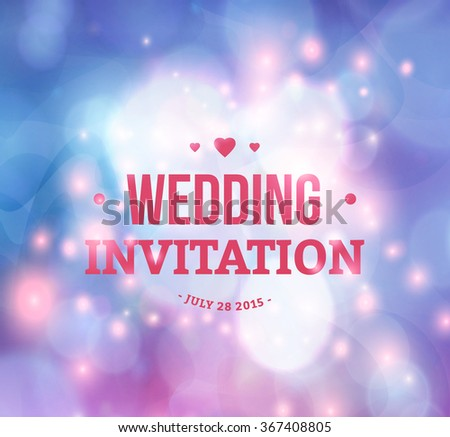 Wedding card or invitation with abstract background - stock vector