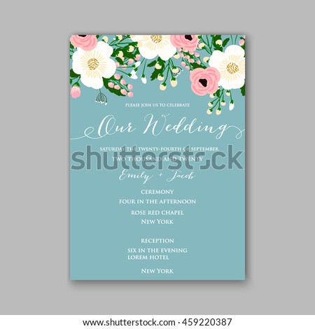 Wedding card invitation abstract floral background stock vector wedding card or invitation with abstract floral background greeting postcard in grunge or retro vector stopboris Images