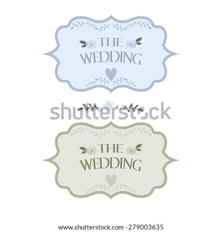 Wedding card template  - stock vector