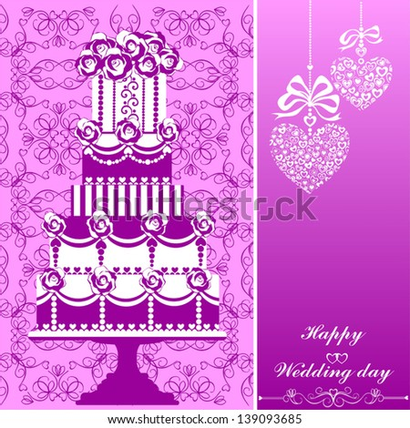 Wedding Card, Vector Version