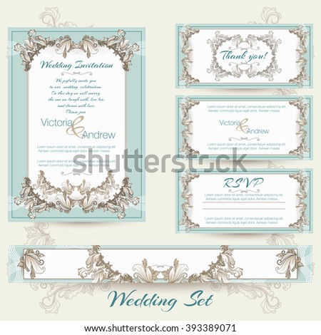 Wedding collection in mint color.
