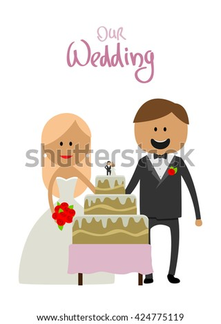 Wedding couple vector illustration. Wedding couple isolated on white background. Wedding couple vector icon illustration. Wedding couple isolated vector. Wedding couple silhouette - stock vector