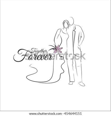 wedding couples - stock vector