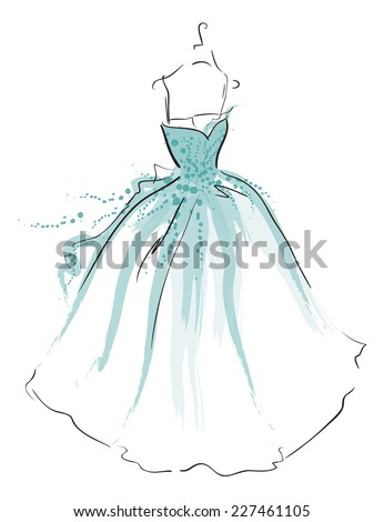Dress Sketch Stock Images Royalty Free Vectors