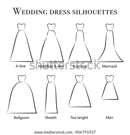 Wedding dress silhouettes