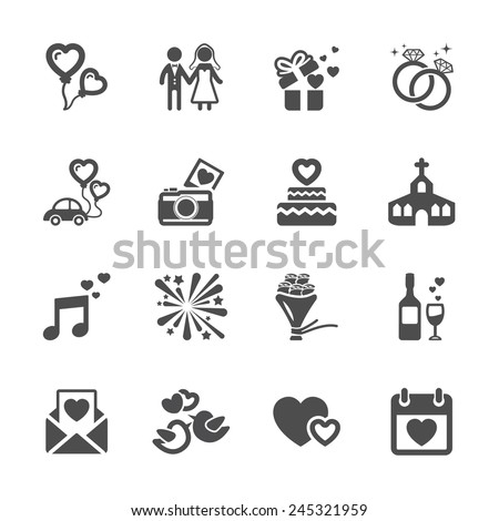 Wedding Icons Stock Images, Royalty-Free Images & Vectors ...