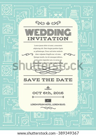 Wedding invitation card layout template illustration stock vector wedding invitation card layout template illustration background in retrovintage style stopboris Images
